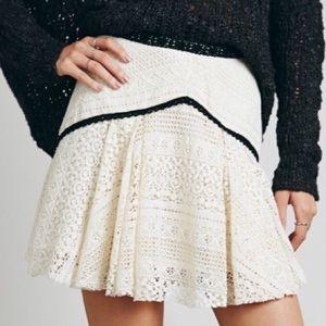 FP Crochet Two Tone Mini Skirt
